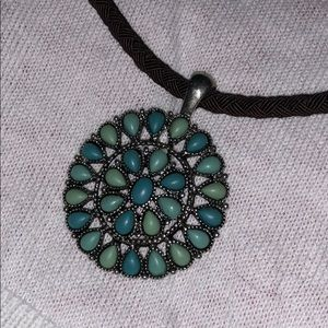 Sea greens necklaces and bracelet.
